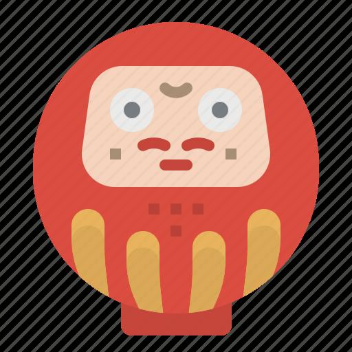 cultures, daruma, fortune, japan, toys icon