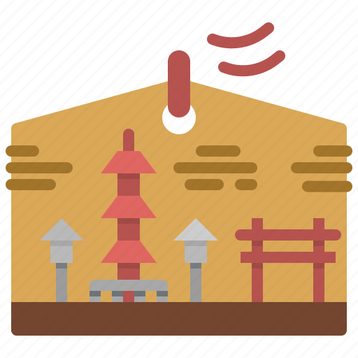cultures, ema, japanese, oriental, temple icon