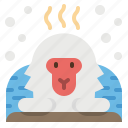 animal, japan, macaques, monkey, snow icon