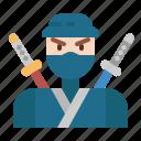 cultures, japanese, ninja, oriental, warrior icon