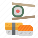 fish, food, japanese, salmon, sushi icon