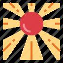 japan, oriental, sun icon