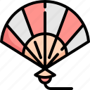 blow, china, chinese, fan, hand, japan, japanese icon
