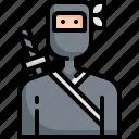 asian, avatar, japan, japanese, ninja, samurai, sword icon