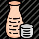 alcohol, bottle, drink, glasses, japan, japanese, sake icon