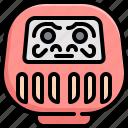 culture, daruma, doll, food, japan, japanease icon
