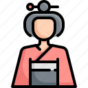 avatar, female, geisha, girl, japan, kimono, woman icon