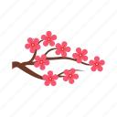 blossom, branch, cherry, flower, petal, sakura, spring icon