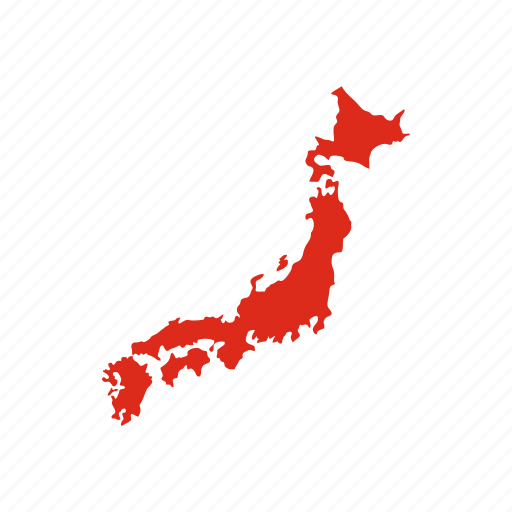 asia, country, geography, japan, japanese, map, travel icon