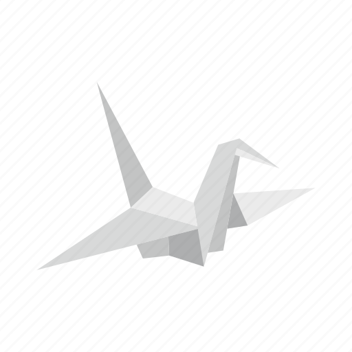 bird, dove, japan, origami, paper, pigeon, wing icon