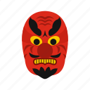 culture, demon, devil, japan, japanese, mask, traditional icon