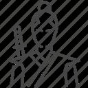 asia, costume, japan, japanese, man, samurai icon