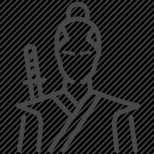 Asia, costume, japan, japanese, man, samurai icon - Download on Iconfinder