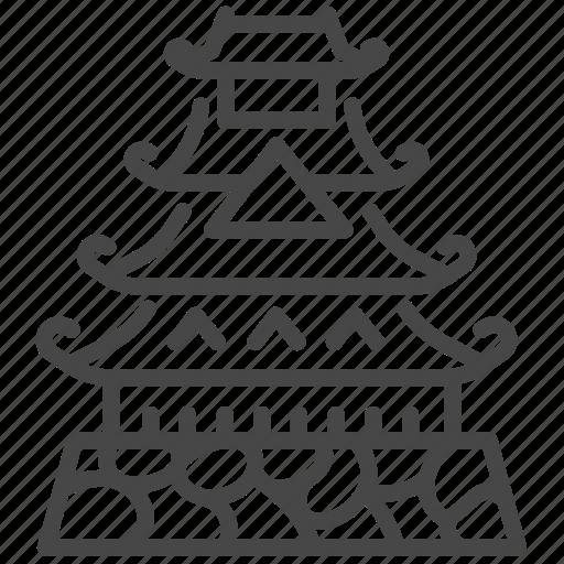 asia, castle, japan, japanese, landmark icon
