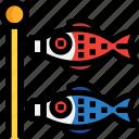carp, fish, flag, japan icon