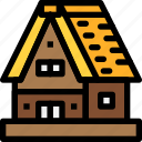 gassho, house, japan, old, vintage icon