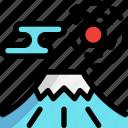 fuji, japan, landmark, mountain icon