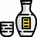 alcohol, bottle, drink, japan, sake icon