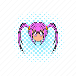 anime, comics, cute, girl, japan, japanese, manga icon