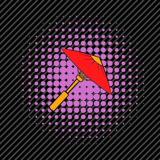 comics, culture, japan, japanese, paper, red, umbrella icon