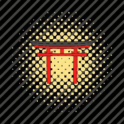 comics, gate, japan, japanese, landmark, religion, shrine icon