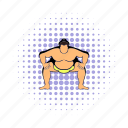 comics, fat, japanese, power, sport, sumo, wrestler icon