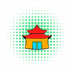 architecture, building, china, chinese, comics, pagoda, temple icon