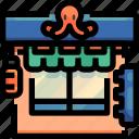 food, japan, restaurant, shopper, shopping, store icon