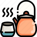 drink, food, hot, kettle, pot, tea icon