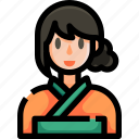 fashion, geisha, japan, japanese, kimono, woman, yukata icon