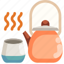 drink, food, hot, kettle, pot, tea