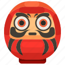 cultures, daruma, fortune, japan, japanese, toys icon