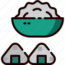 ball, food, japan, meal, onigiri, restaurant, rice