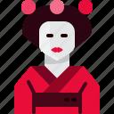 avatar, geisha, girl, japan, people, person, woman icon