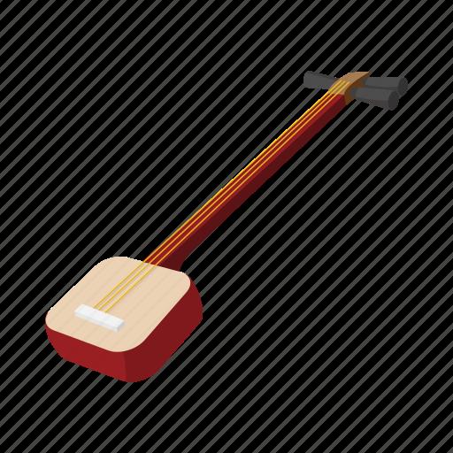cartoon, instrument, japanese, musical, shamisen, style, traditional icon