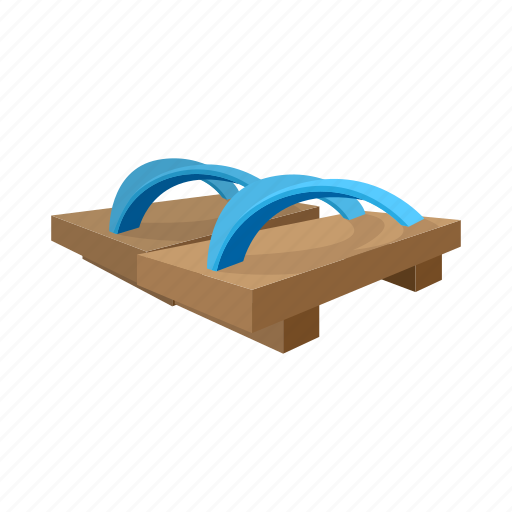 blue, cartoon, footwear, sign, style, traditional, wooden icon