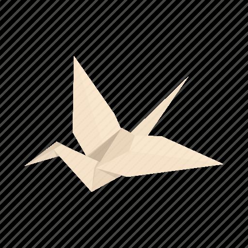 bird, cartoon, decorative, origami, paper, shape, sign icon