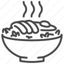 food, japan, japanese, oyakodon, tonkatsu icon