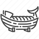 boat, fish, food, japan, japanese, sashimi icon
