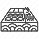bento, food, japan, japanese, rice box icon