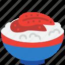 eel, fish, japan, japanese, kabayaki, rice icon