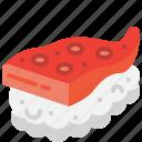 food, japan, japanese, octopus, seafood, sushi, tako icon