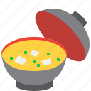 food, soup, miso, japanese, bowl, japan icon