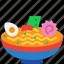 food, japan, japanese, meal, noodles, ramen icon