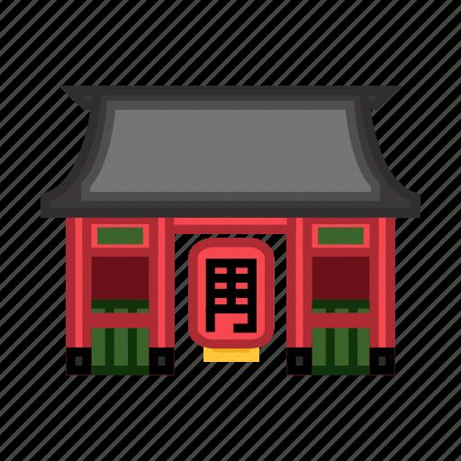 buddhist, historic architecture, religious site, sensoji temple, tourist attraction icon