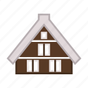 cabin, lodging, residence, shirakawago village, traditional house icon