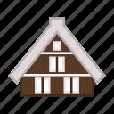 cabin, lodging, residence, shirakawago village, traditional house