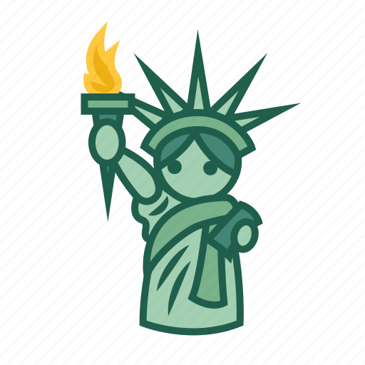 famous architecture, iconic landmark, statue of liberty, symbolic, tourist attraction icon