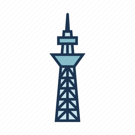 iconic landmark, observation tower, sightseeing, tokyo skytree, tourist attraction icon