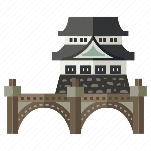 government building, historic landmark, imperial palace, japanese castle, royal residence icon